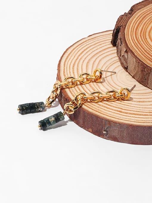 TINGS Brass Cubic Zirconia Tassel Hip Hop Drop Earring 3