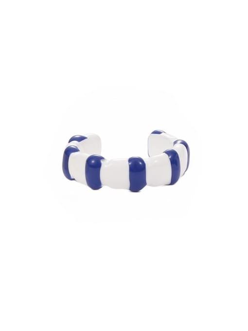 Section 9 (No. 6 and No. 7) Zinc Alloy Enamel Heart Minimalist Band Ring
