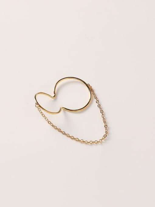 HYACINTH Brass Geometric Minimalist Clip Earring