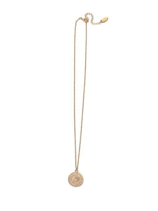 Sun Necklace Brass Imitation Pearl Geometric Vintage Necklace