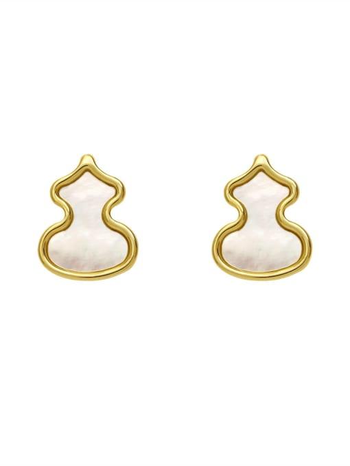 HYACINTH Brass Shell Irregular Minimalist Stud Earring