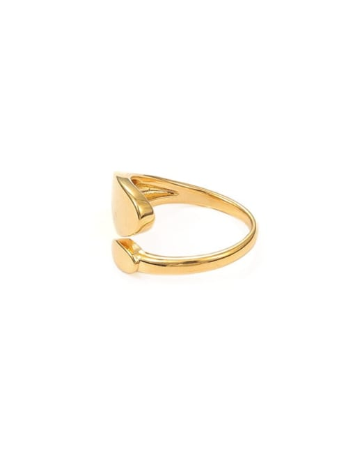 Smooth ring Brass Geometric Minimalist Band Ring