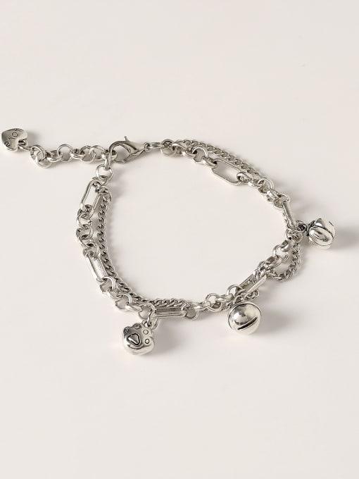HYACINTH Brass Hollow Bell Vintage Strand Bracelet