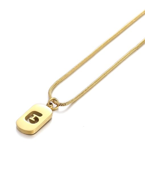 Number 6 Titanium Steel Number Minimalist Pendant Necklace