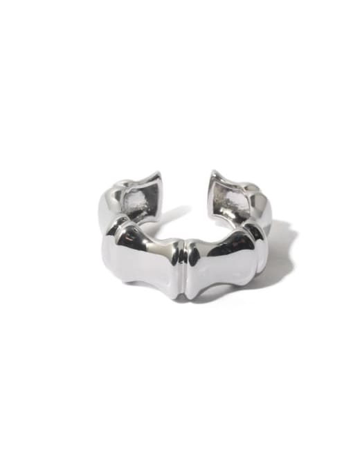 TINGS Brass Smooth Geometric Hip Hop Band Ring 0