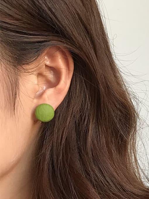 Five Color Alloy Enamel Round Cute Stud Earring 1