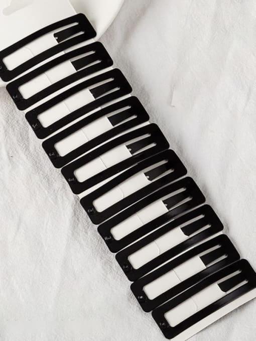 7cm baking Black Square Alloy Multi Color Enamel Minimalist Water Drop  Hair Barrette