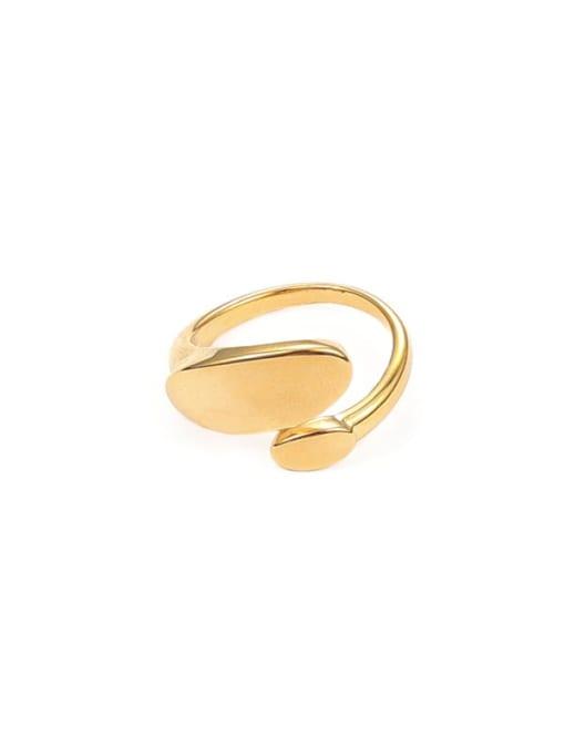 Five Color Brass Geometric Minimalist Band Ring 0
