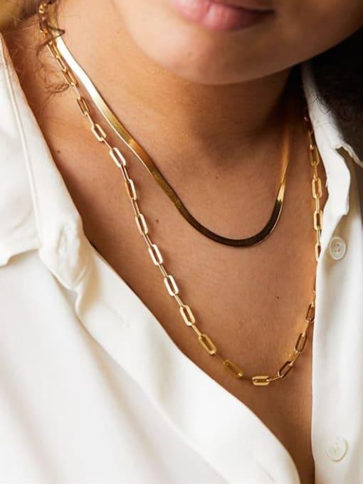 Desoto Stainless steel Irregular Hip Hop Multi Strand Necklace 1