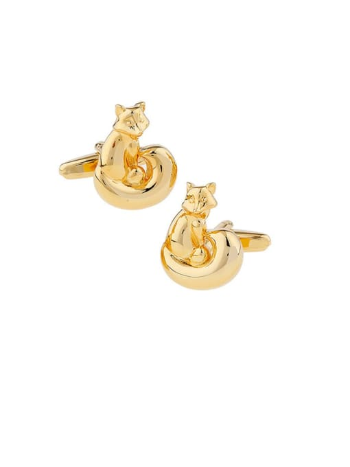 ThreeLink Brass Animal Vintage Cuff Link
