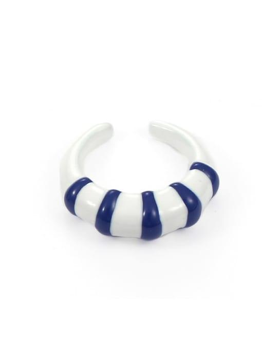 Section 3 (No. 6 and No. 7) Zinc Alloy Enamel Heart Minimalist Band Ring