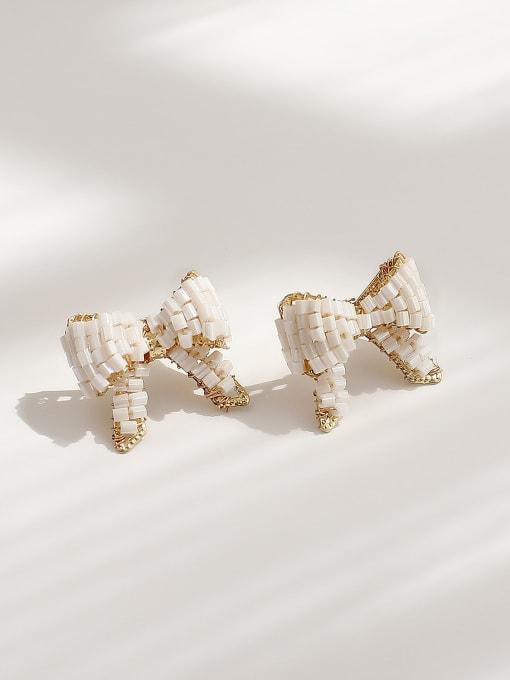 HYACINTH Brass Butterfly Vintage Stud Earring 3