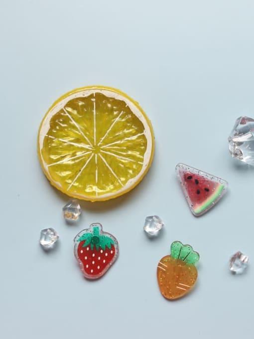 Five Color Alloy Enamel Friut Cute Stud Earring 1
