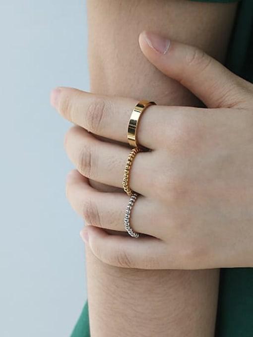 ACCA Brass Bead Round Minimalist Band Ring 2