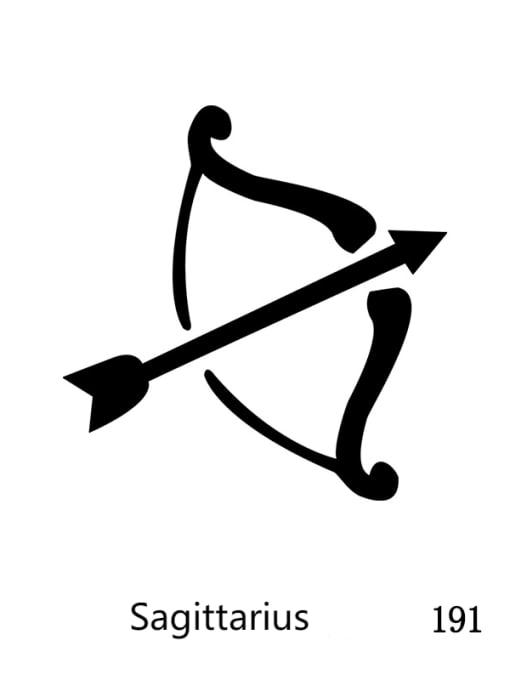 Sagittarius Custom Titanium Steel Constellation  Pendant Necklace
