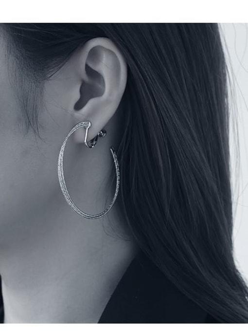 Five Color Brass Geometric Minimalist Clip Earring 2