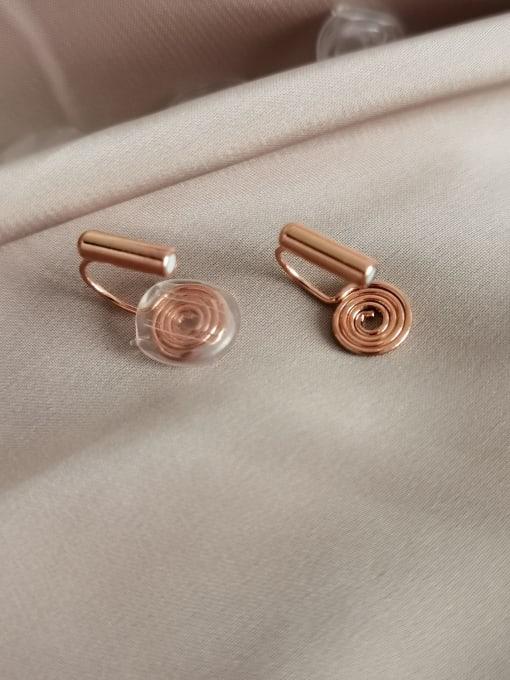 Rose gold Brass Geometric Minimalist Stud Earring