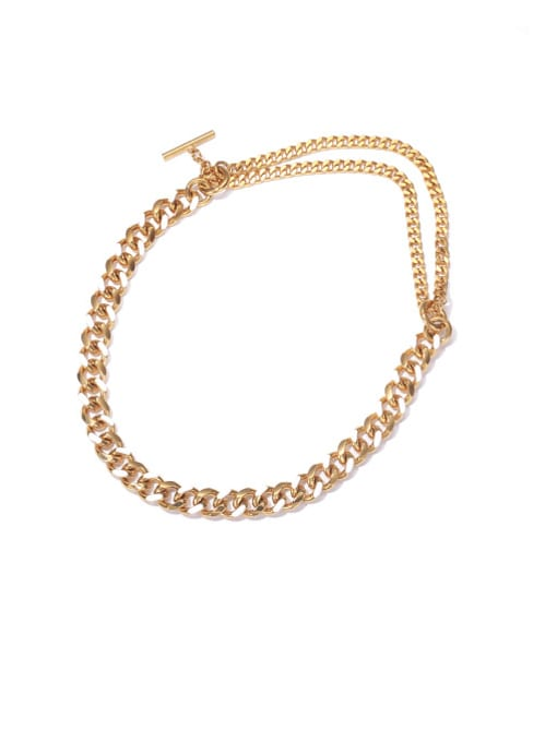 White oil dripping gold necklace Brass Hollow Geometric  Chain Vintage Necklace