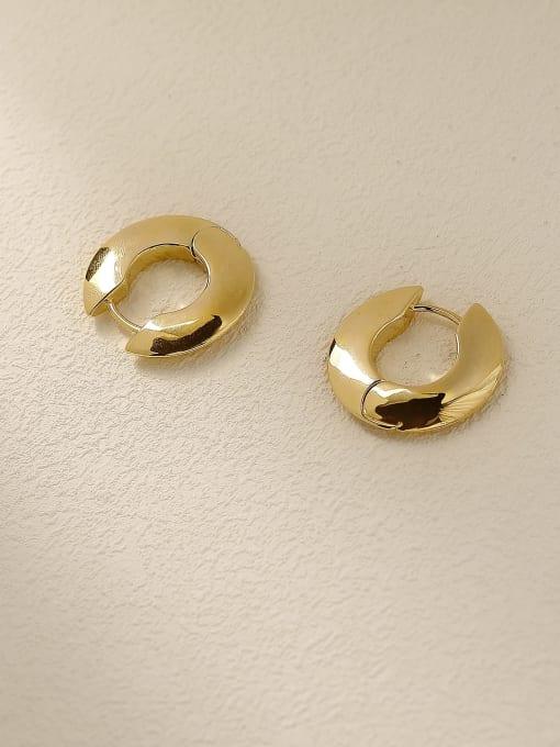 14k Gold Brass Geometric Minimalist Stud Trend Korean Fashion Earring