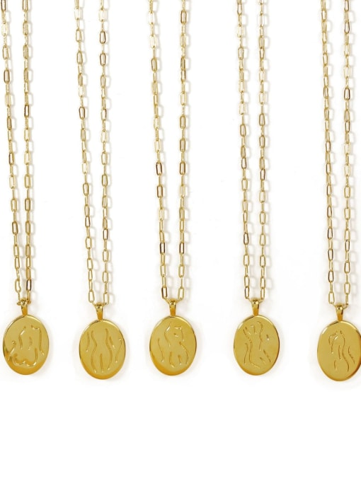 ACCA Brass Geometric Vintage Fashion abstract Human body Pendant Necklace