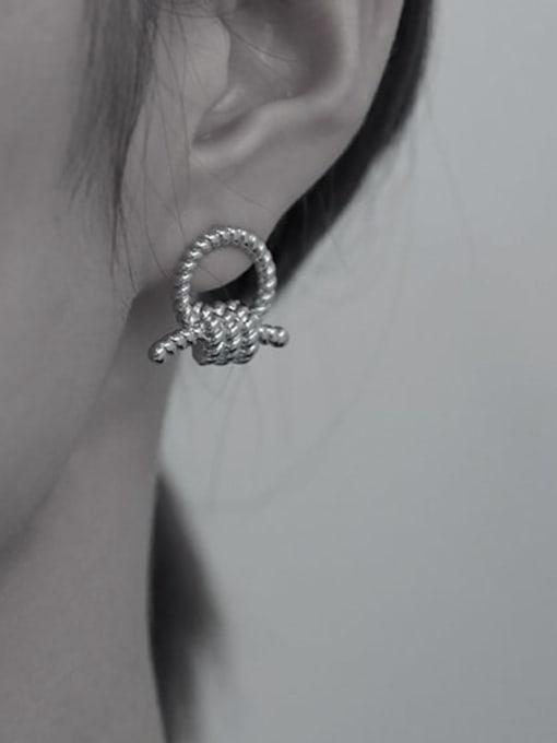 TINGS Brass Knot Geometric Vintage Stud Earring 2
