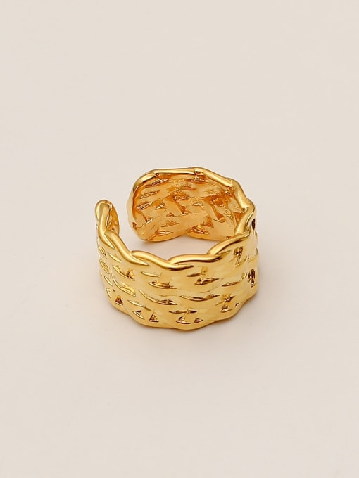 14K gold Brass Geometric Vintage Band Ring