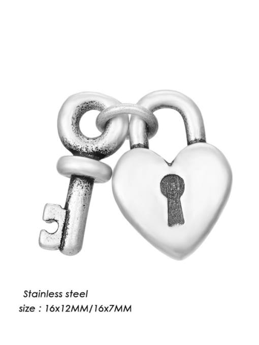 HZNP017 Stainless steel Vintage Key  Pendant DIY