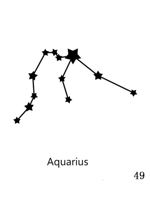 49 Aquarius Stainless steel Constellation Minimalist Round Pendant Necklace