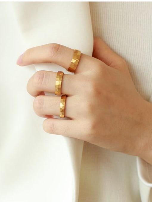 Five Color Titanium Steel Geometric Minimalist Band Ring 2