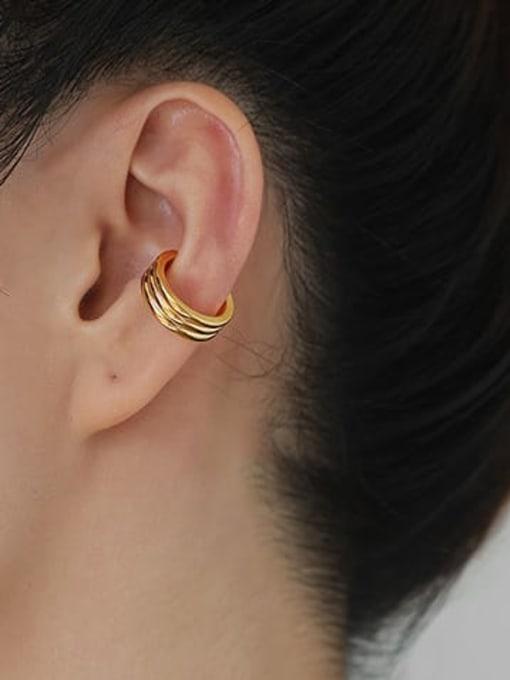 ACCA Brass Geometric Hip Hop Single Earring 1