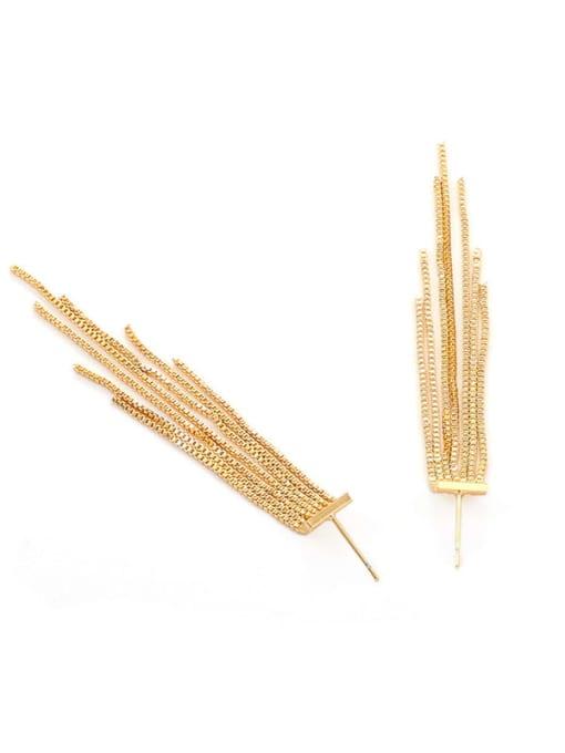 Five Color Brass Tassel Trend Threader Earring 3