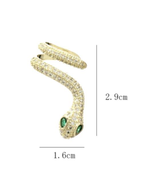 SUUTO Brass Cubic Zirconia Snake Luxury Stud Earring 2