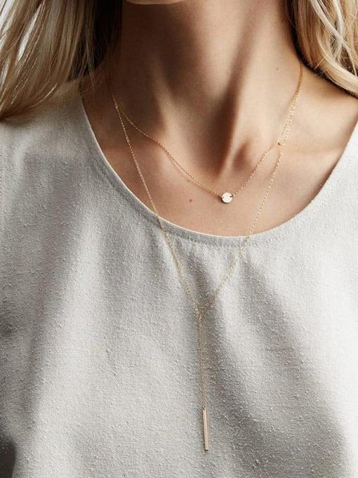 Desoto Stainless steel Tassel Minimalist Multi Strand Necklace 1