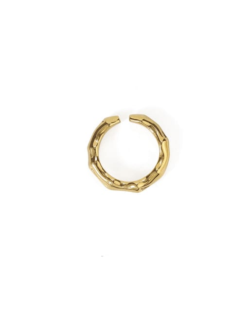 Bamboo section Brass Geometric Hip Hop Band Ring
