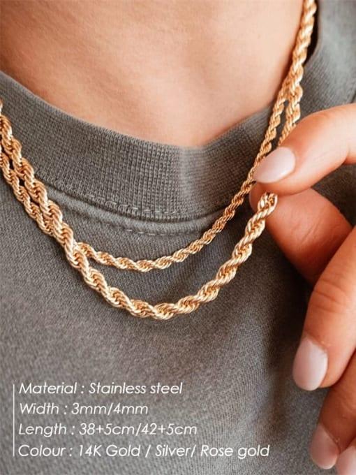 Desoto Stainless steel Irregular Hip Hop Necklace 1