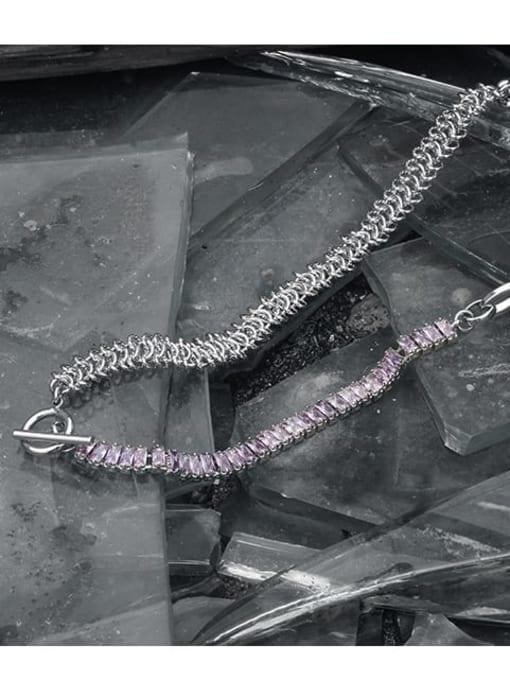 TINGS Brass Geometric Vintage Multi Strand Necklace 2