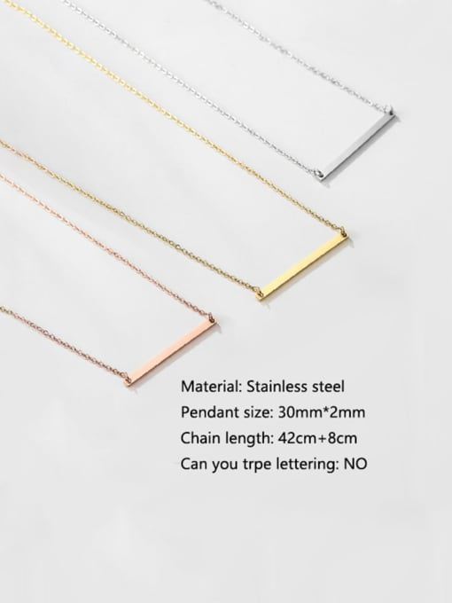 Desoto Stainless steel Minimalist Geometric  Pendant Multi Strand Necklace 3