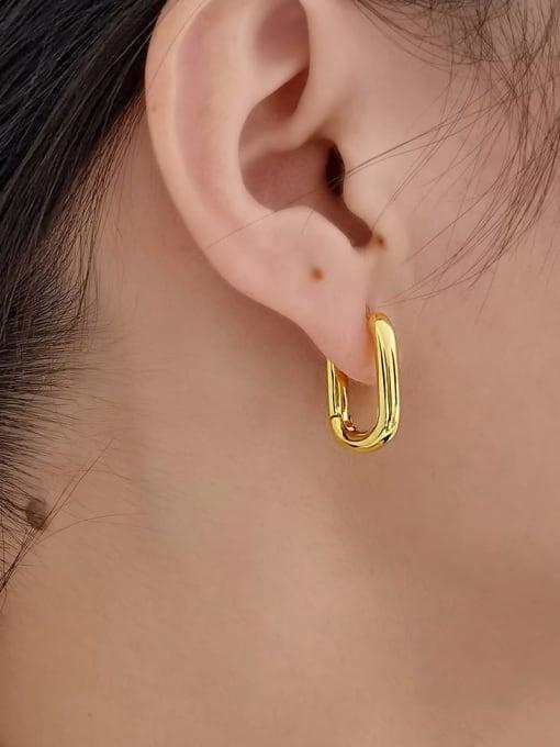 HYACINTH Brass Enamel Heart Minimalist Huggie Earring 1