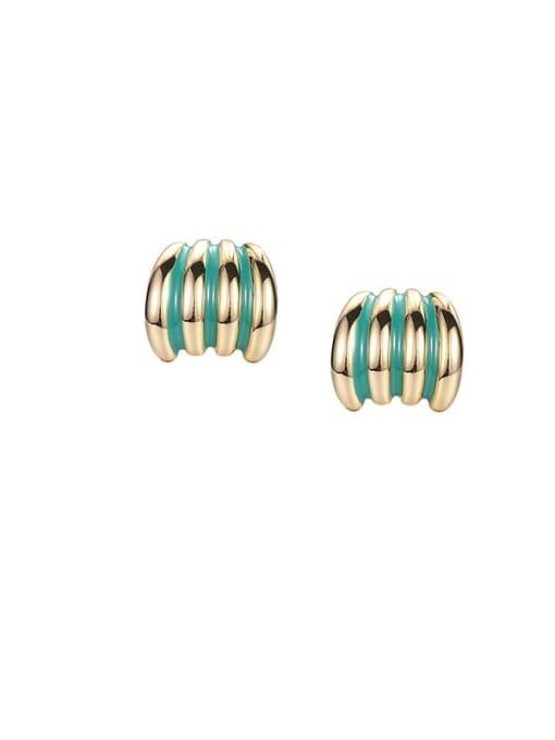 ACCA Brass Enamel Geometric Minimalist Stud Earring