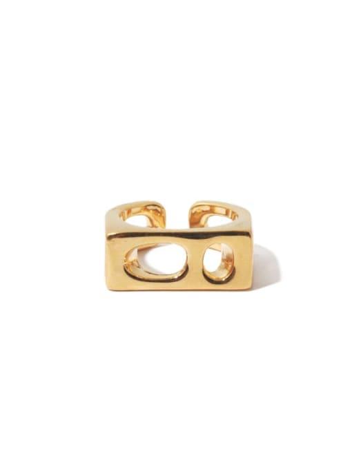 Paragraph 1 (ring 7) Brass Geometric Hip Hop Band Ring