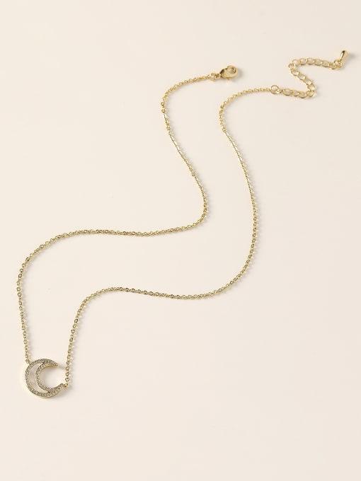 HYACINTH Brass Shell Moon Minimalist Necklace 2