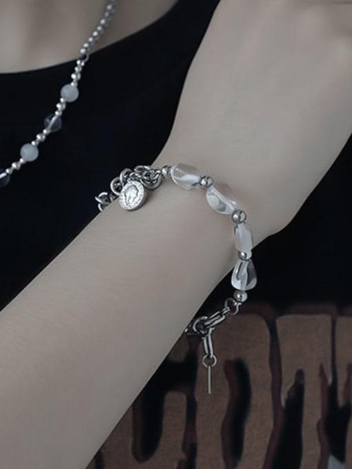TINGS Brass  Hollow knot Hip Hop Link Bracelet 1