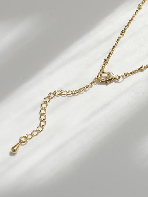 HYACINTH Brass Round Hip Hop Necklace 3