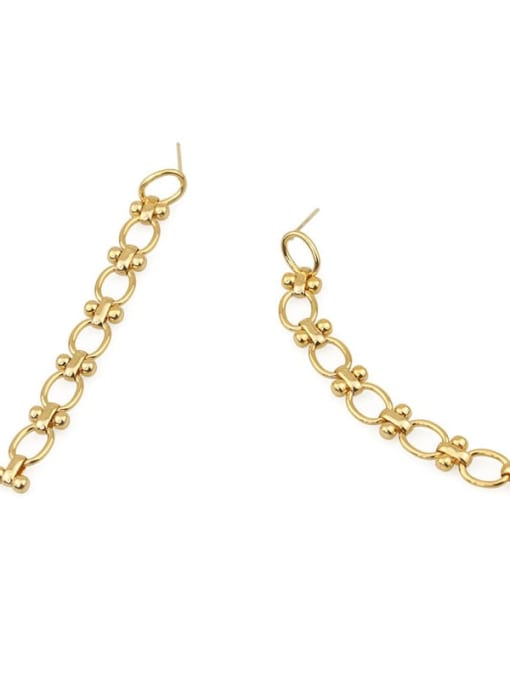 ACCA Brass Tassel Hip Hop Drop Earring 2