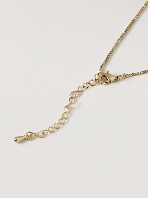 HYACINTH Brass Imitation Pearl Locket Minimalist Necklace 3
