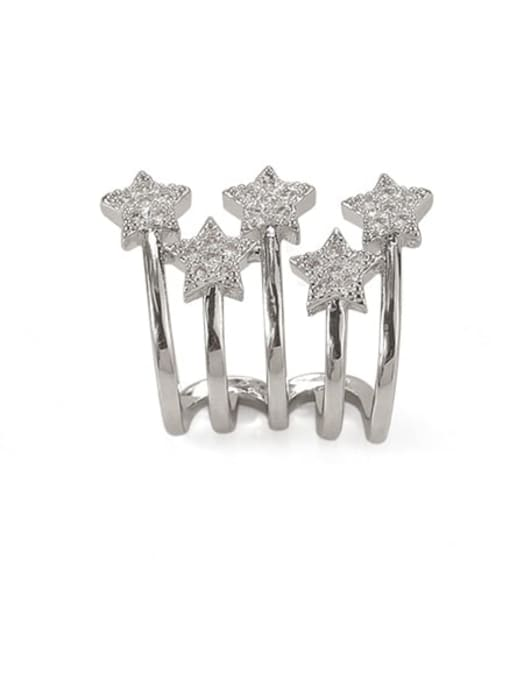 ACCA Brass Cubic Zirconia Star Vintage Clip Earring For Sale Only, single 2