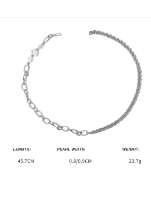 TINGS Brass Asymmetry Irregular Minimalist Necklace 2