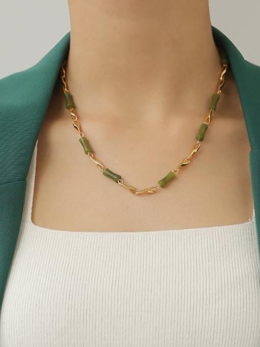 TINGS Brass Shell Geometric Minimalist Necklace 1