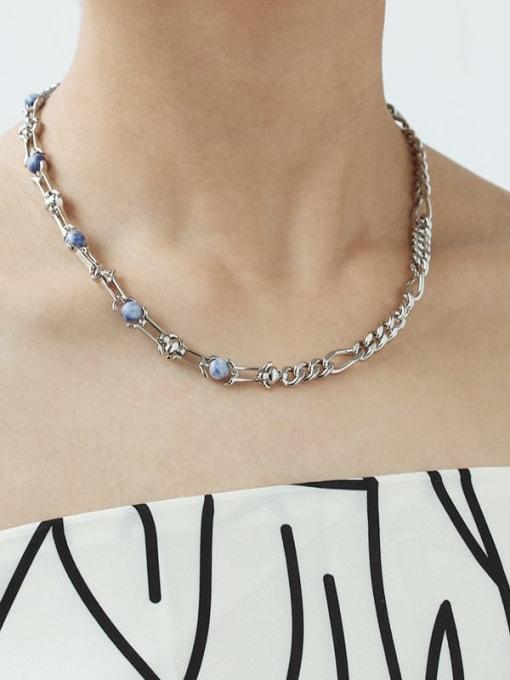 TINGS Brass Cloisonne Geometric Vintage Necklace 3