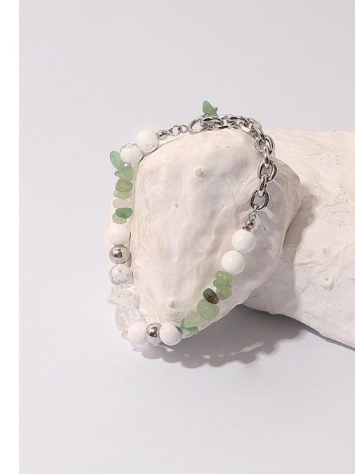 TINGS Brass Imitation Pearl Geometric Hip Hop Beaded Bracelet 2